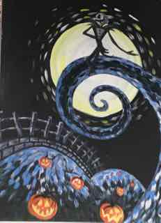 Nightmare before Christmas Painting Instructor: Mare