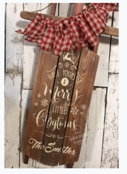 Christmas in July/ DIY Personalized Sled Workshop